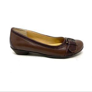 Softspots Presto Root Brown leather Flats